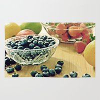 fruits Area & Throw Rugs featuring Fruits by Nieves Montano