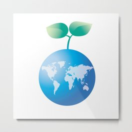 Save the Earth Metal Print