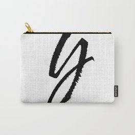 Letter Y Ink Monogram Carry-All Pouch