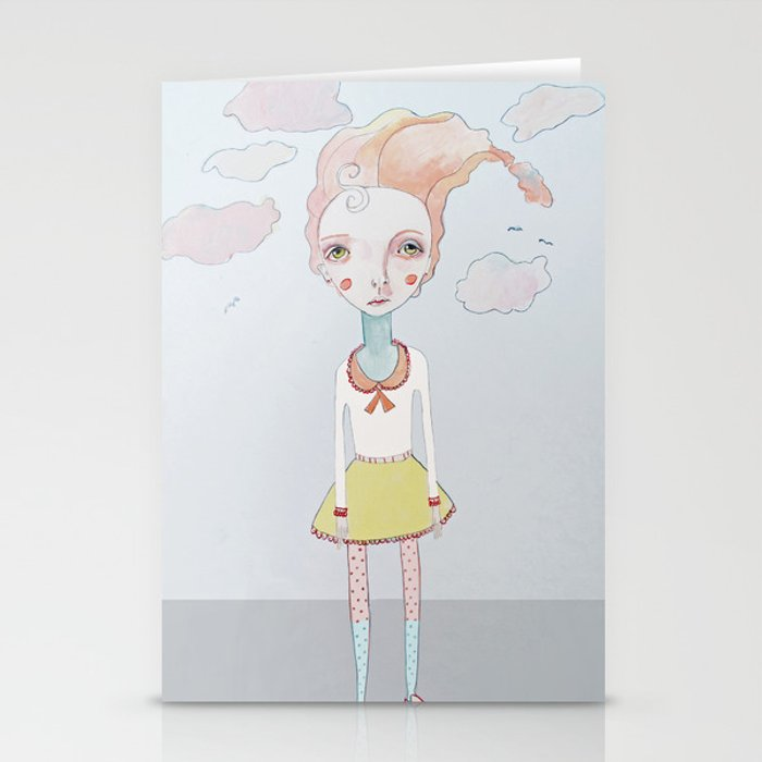 Cotton Candy Head in the Clouds Stationery Cards