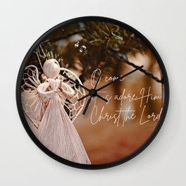 Come Let Us Adore Him 2 Wall Clock