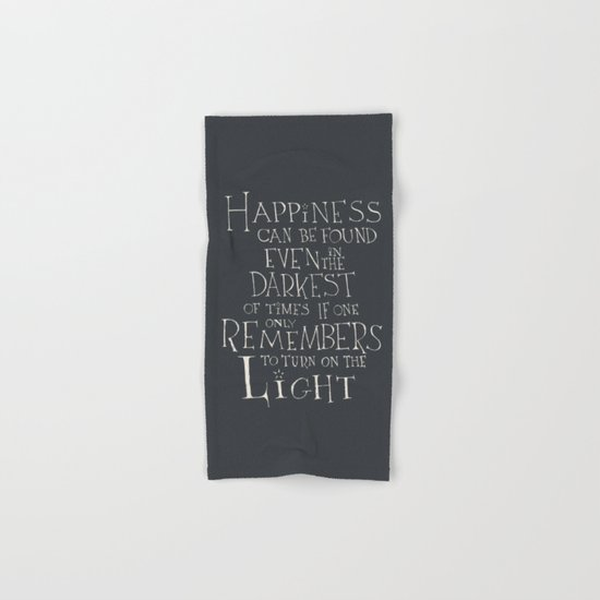 "Harry Potter - Albus Dumbledore quote ""Happiness""  Hand & Bath Towel"