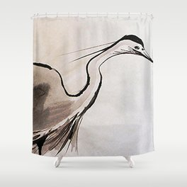 Japanese Crane #society6 #decor #buyart Shower Curtain