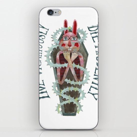 Live Vicariously. Die Prudently. iPhone & iPod Skin