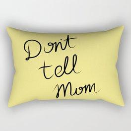 Oopsie - Don't Tell Mom Rectangular Pillow