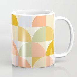 Retro Rainbow Field #abstract #geometry Coffee Mug