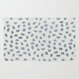 Simply Ink Splotch Indigo Blue on Lunar Gray Rug