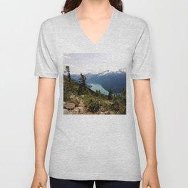 Turquoise gem of mountains - Cheakamus Lake Unisex V-Neck