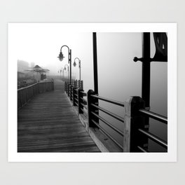 walk with me. Art Print