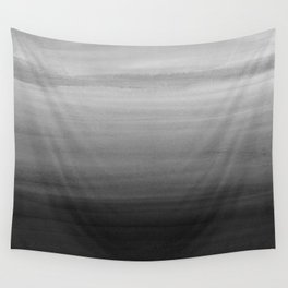 Touching Black Gray White Watercolor Abstract #1 #painting #decor #art #society6 Wall Tapestry