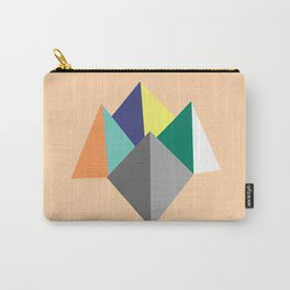 Paku Paku, original colours on peach Carry-All Pouch