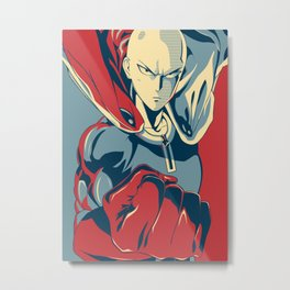Saitama - Hero Metal Print
