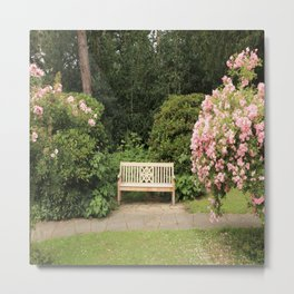 A Beautiful Place Between Roses  To Relax Metal Print