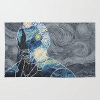 van gogh Area & Throw Rugs featuring Van Gogh by NotNorrah