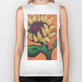 Orange Sunflower Biker Tank