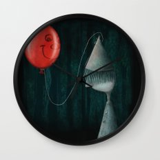 The Boy and the Balloon Wall Clock