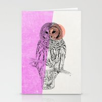 techno Stationery Cards featuring Techno Owl by Zeke Tucker