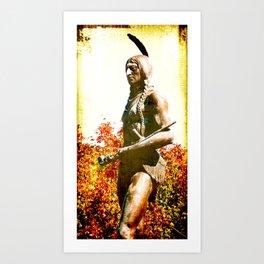 MASSOIT, Native American Statue, Kansas City Art Print