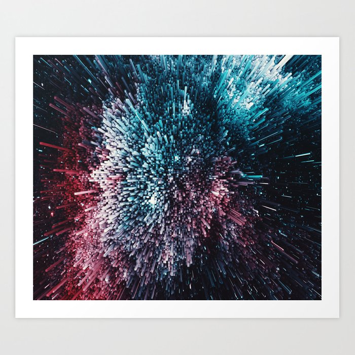 Melted Milky Way Art Print