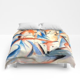 "Franz Marc ""Four foxes"" Comforters"