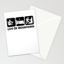 Live Of Mountains bw Stationery Cards
