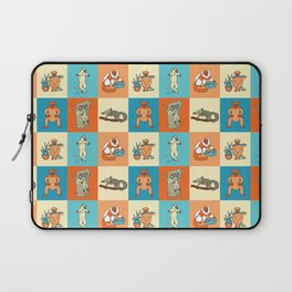 Colourful lemur pattern Laptop Sleeve