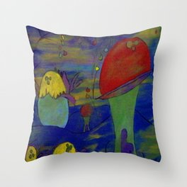Birth of the House Throw Pillow