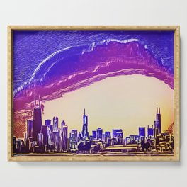 Chicago Cityscape Serving Tray
