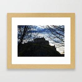 Castle through the trees Framed Art Print