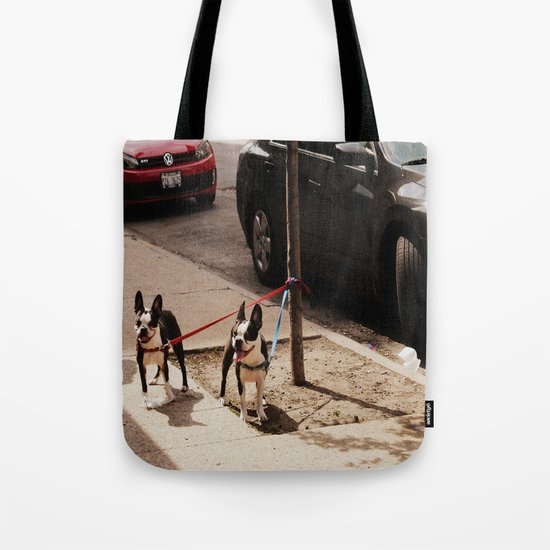 Boston Terriers ~ amped up for action! Tote Bag