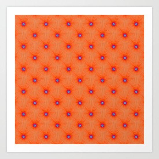 Tangerine Color Explosion Tiled Art Print