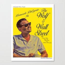 The Wolf of Wall Street Pop Art Alternative Poster Canvas Print