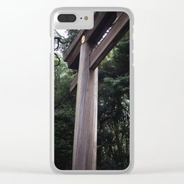 wooden torii Clear iPhone Case