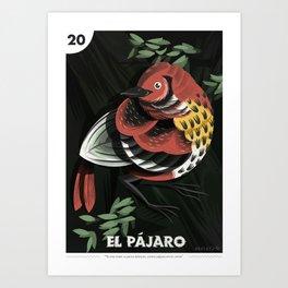 El Pájaro - The Bird Art Print
