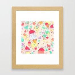 Ice and Cream Framed Art Print