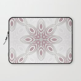 Feathers, Geometric Pattern in Mauve and Grey Laptop Sleeve