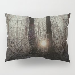 sunset in the forest Pillow Sham