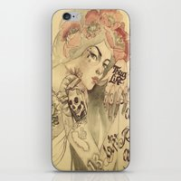 mucha iPhone & iPod Skins featuring mucha chicano by paolo de jesus