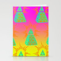 all seeing eye Stationery Cards featuring All Seeing Eye by Eyewax International