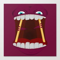 mouth Canvas Prints featuring Mouth by Alex Tim