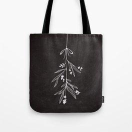 Chalkboard Art - Mistletoe Tote Bag