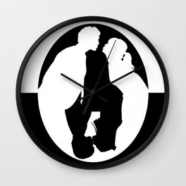 Pushing Daisies silhouette kiss Wall Clock