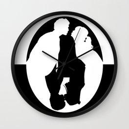 Pushing Daisies silhouette kiss Wall Clock