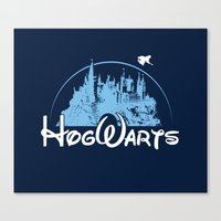hogwarts Canvas Prints featuring HOGWARTS by Bilqis