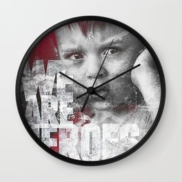 Hero Sessions III Wall Clock