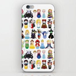 Kokeshis Fairy tales (new version) iPhone Skin
