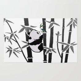 Panda bamboo feeding Rug