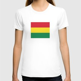 Flag of bolivia-bolivian,spanish,america,south america,latin america,coffee,Santa cruz,Sucre,La paz T-shirt
