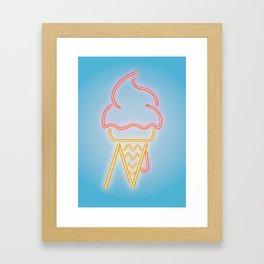 N-ice - Neon Framed Art Print