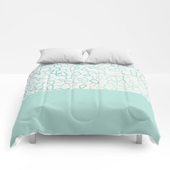 Abstract on Turquois Comforters